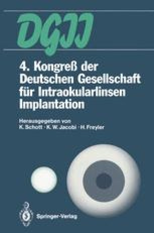 4. Kongreß der Deutschen Gesellschaft für Intraokularlinsen Implantation
