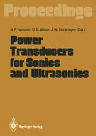 Power Transducers for Sonics and Ultrasonics