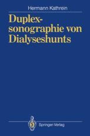 Duplexsonographie von Dialyseshunts