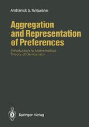 Aggregation and Representation of Preferences
