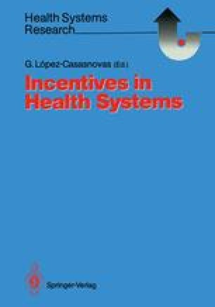 Incentives in Health Systems