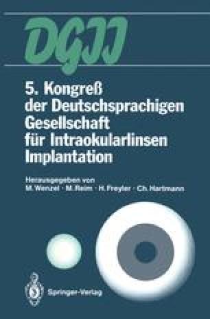 5. Kongreß der Deutschsprachigen Gesellschaft für Intraokularlinsen Implantation