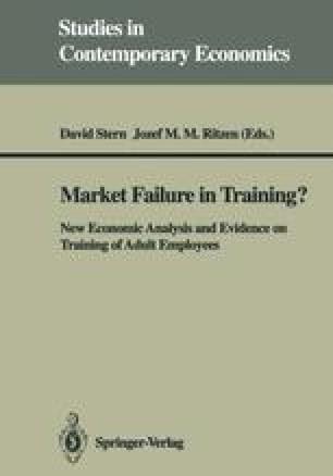Market Failure in Training?
