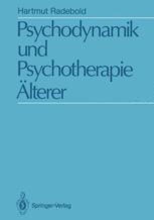 Psychodynamik und Psychotherapie Älterer