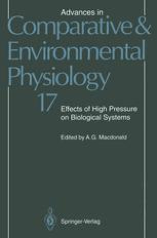 Effects of High Pressure on Biological Systems