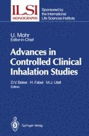 Advances in Controlled Clinical Inhalation Studies