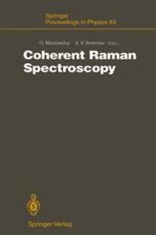 Coherent Raman Spectroscopy