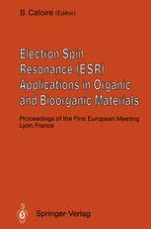Electron Spin Resonance (ESR) Applications in Organic and Bioorganic Materials