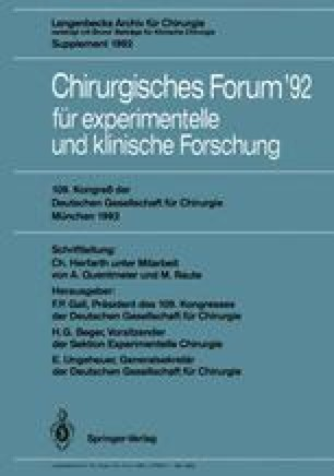 Chirurgisches Forum '92 für experimentelle und klinische Forschung