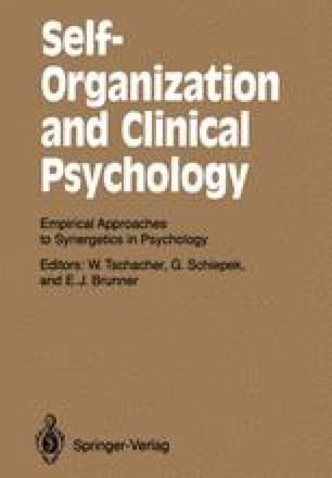 Self-Organization and Clinical Psychology