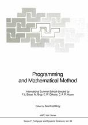 Programming and Mathematical Method
