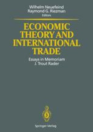 Economic Theory and International Trade