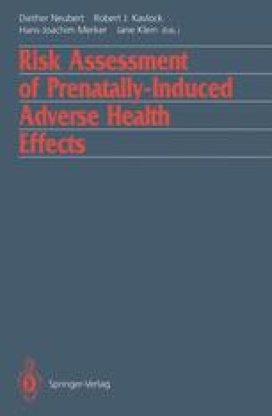 Risk Assessment of Prenatally-Induced Adverse Health Effects