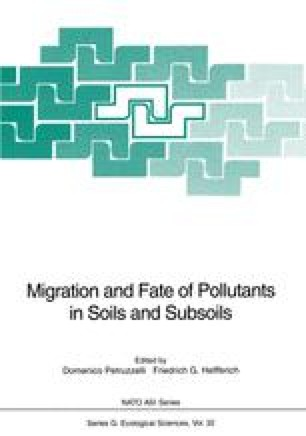 Migration and Fate of Pollutants in Soils and Subsoils