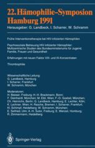 22. Hämophilie-Symposion Hamburg 1991
