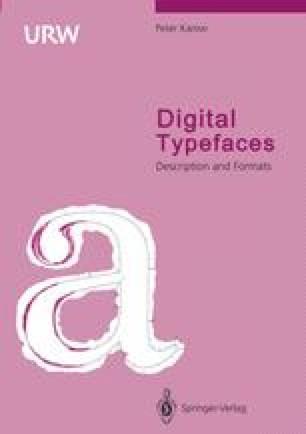 Digital Typefaces