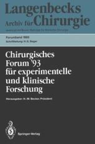 Chirurgisches Forum '93 für experimentelle und klinische Forschung