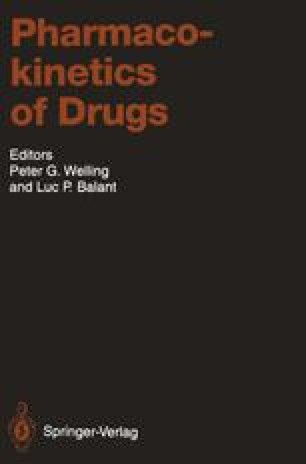 Pharmacokinetics of Drugs