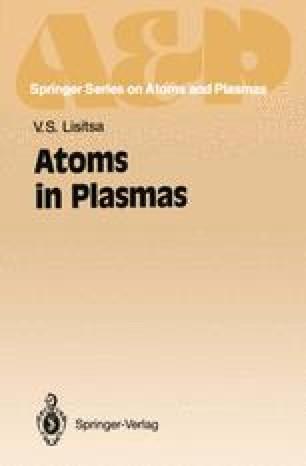 Atoms in Plasmas