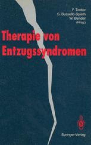 Therapie von Entzugssyndromen