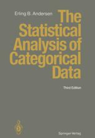 The Statistical Analysis of Categorical Data