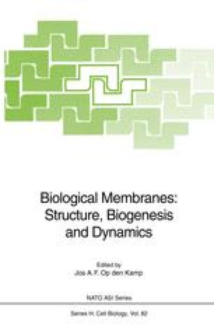 Biological Membranes: Structure, Biogenesis and Dynamics