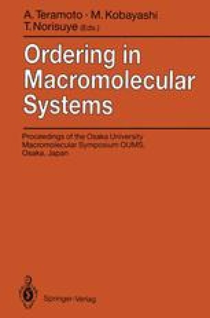 Ordering in Macromolecular Systems