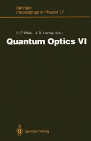 Quantum Optics VI