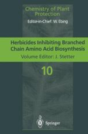 Herbicides Inhibiting Branched-Chain Amino Acid Biosynthesis