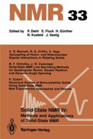 Solid-State NMR IV Methods and Applications of Solid-State NMR