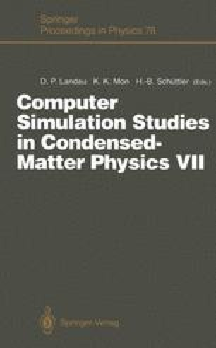 Computer Simulation Studies in Condensed-Matter Physics VII