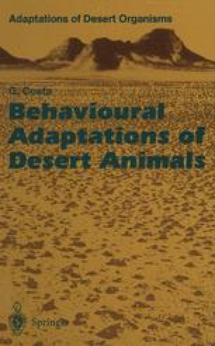 Behavioural Adaptations of Desert Animals