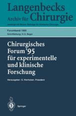 Chirurgisches Forum '95 für experimentelle und klinische Forschung
