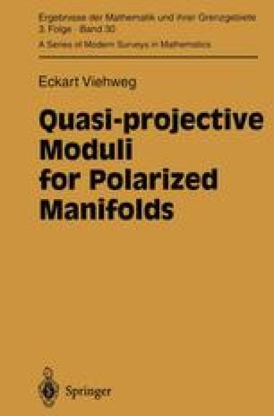 Quasi-projective Moduli for Polarized Manifolds