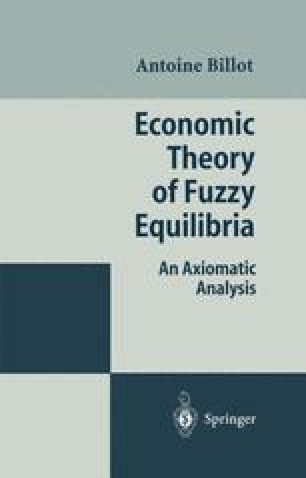 Economic Theory of Fuzzy Equilibria