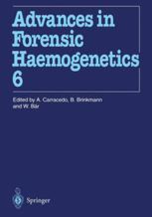 16th Congress of the International Society for Forensic Haemogenetics (Internationale Gesellschaft für forensische Hämogenetik e.V.), Santiago de Compostela, 12–16 September 1995