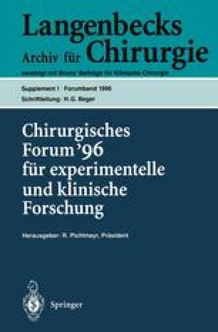 Chirurgisches Forum '96 fur experimentelle und klinische Forschung