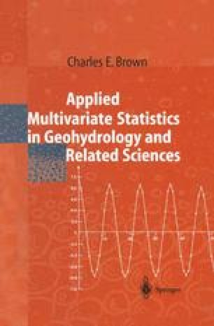 Applied Multivariate Statistics in Geohydrology and Related Sciences