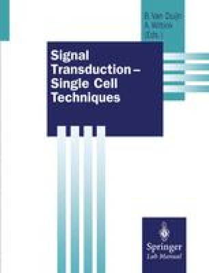 Signal Transduction — Single Cell Techniques