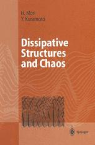Dissipative Structures and Chaos