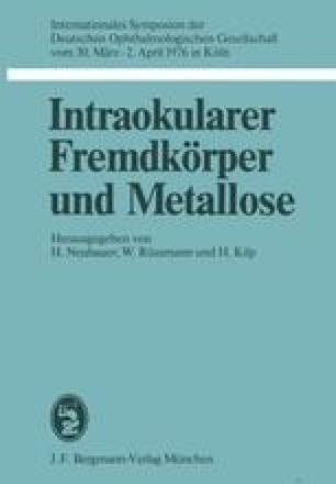 Intraokularer Fremdkörper und Metallose