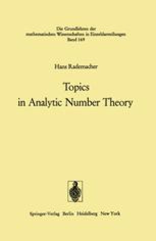 Topics in Analytic Number Theory