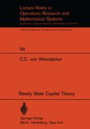Steady State Capital Theory