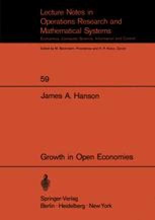 Growth in Open Economies