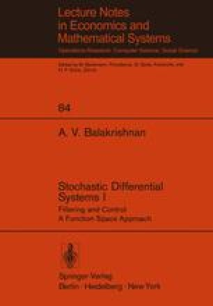Stochastic Differential Systems I