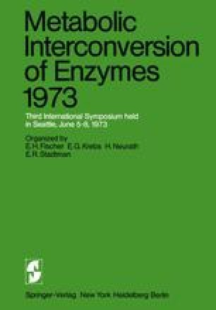 Metabolic Interconversion of Enzymes 1973