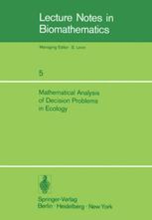 Mathematical Analysis of Decision Problems in Ecology