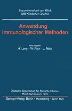 Anwendung immunologischer Methoden