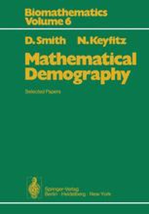 Mathematical Demography