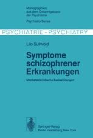 Symptome schizophrener Erkrankungen